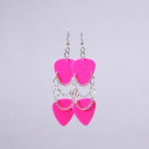 Rockstar l Hot PInk Earrings