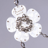 Flower Pendant White Necklace