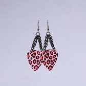 Chick Rock I Leopard Pink Earrings