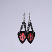 Chick Rock I Fleur de Lis Black Earrings