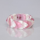 Guitar Band Bracelet White & Pink