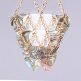 Layered Abalone Gold Long Necklace