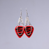 Heavy Metal l Zebra Red Earrings