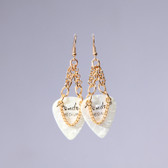 Heavy Metal l Fender White Earrings