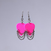 Hard Rock l Hot Pink Earrings