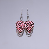 Hard Rock l Leopard Pink Earrings