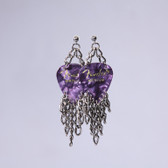 Fringe Purple Earring's
