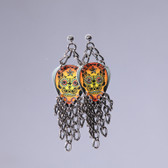 Fringe  Sugar Skull Yellow Earring's