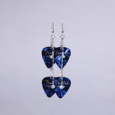 Crystals Blue Double Pick Earring's