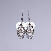Hard Rock l Fleur de Lys White Earrings