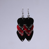 Scales l Red Pick Earrings