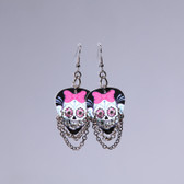 Hard Rock l Day of The Dead Bows Earrings