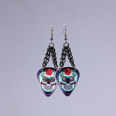 Sugar Skull Rose Earring's