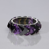 Guitar Band Bracelet Black & Purple