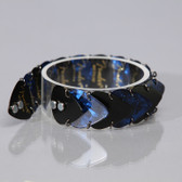 Mens Bracelet Black & Blue
