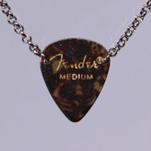 Guitar Pick Pendant Stacked Tortoise Shell Necklace