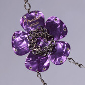 Flower Pendant Purple Necklace