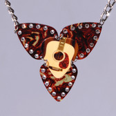 Mosaic Pendant Guitar Necklace