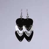 Scales l White & Black Pick Earrings