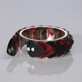 Mens Guitar Bracelet Black & Red