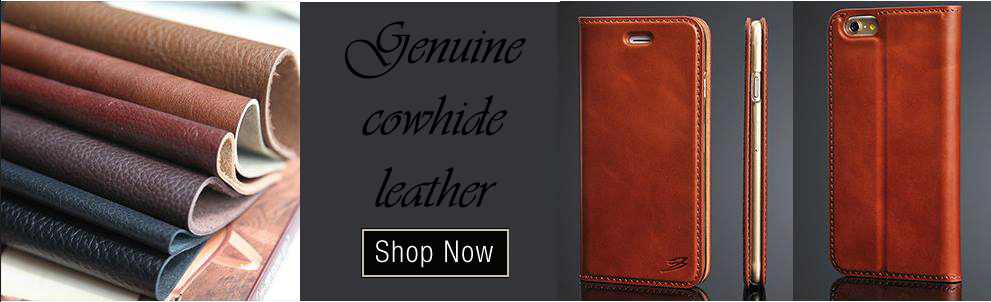 Genuine Natural Leather iPhone 5/5S/6/6+ Cases