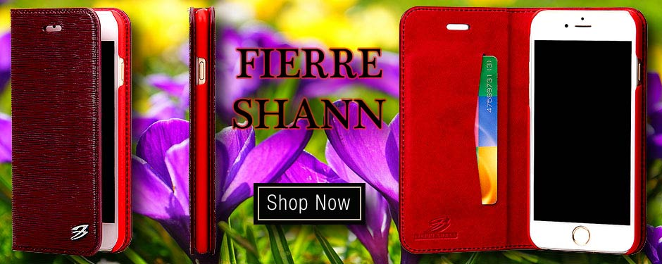 Designer Fierre Shann Genuine Leather iPhone 6, 6S & 6 PLUS/6S PLUS Cases
