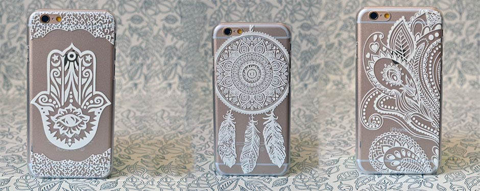 Transparent Mandala iPhone 5/5S/6/6+ Cases