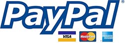 PayPal payment solution with Visa, Mastercard