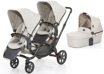 Zoom Twin Pram 2017 Camel plus Carrycot Bundle