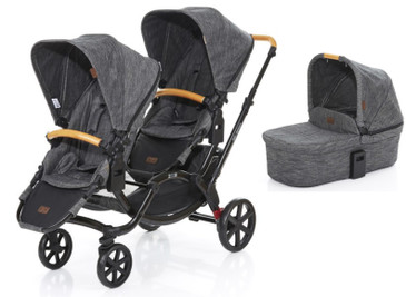 Zoom Twin Pram 2017 Wood plus Carrycot Bundle
