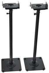 2  PA DJ Club Adjustable Height Satellite Speaker Stand Mount MS07B2