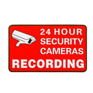 Security Warning Decal S002