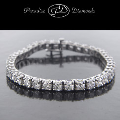 Round Diamond Tennis Bracelet - 12.01CT