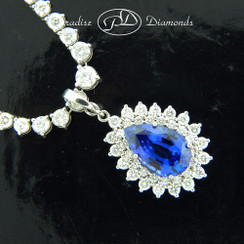Tanzanite Diamond Pendant - 7.73CT + 1.83CT