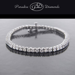 Round Diamond Tennis Bracelet - 10.85CT