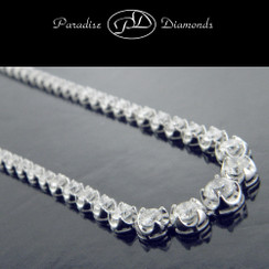 Round Diamond Tennis Necklace - 11.71CT
