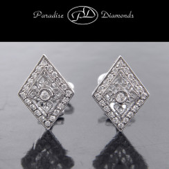 PDT801 Diamond-Shaped Diamond Earrings 0.40CT