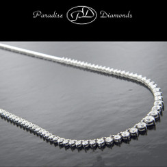 Round Diamond Tennis Necklace - 5.27CT