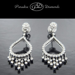 PDE852 - 2.10ct Chandelier Diamond Earrings, 18K White Gold