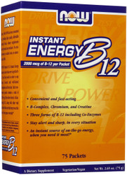 B-12 INSTANT ENERGY PACKETS (75 PER BOX)