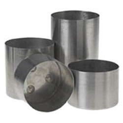 "4"" wide x 6.5"" tall - Round Aluminum Pillar Candle Mold (am-10)"