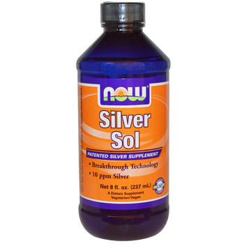 Silver Sol 8 Fl Oz Now Brand Vitamins And Supplements