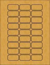 "1.875"" x .9375"" Brown Kraft Lip Balm Labels for Rectangle Tins"