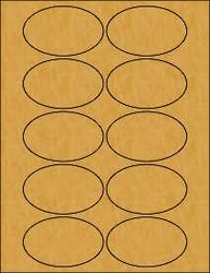 3.25 x 2 Oval Brown Kraft Labels