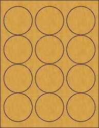 2.5 Circle Brown Kraft Labels