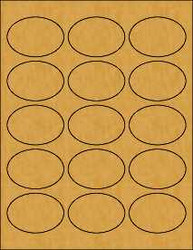 2.5 x1.75 Oval Brown Kraft Labels