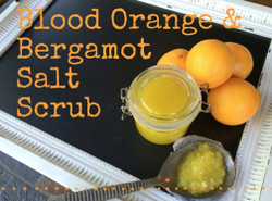 Blood Orange and Bergamot Salt Scrub kit