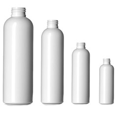 Buy Plastic White Bullet Bottles