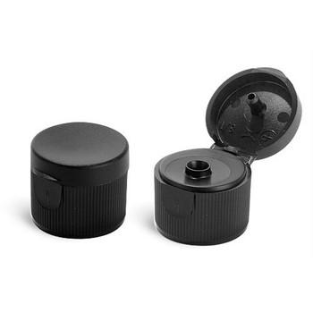 Black Ribbed Dispensing Caps