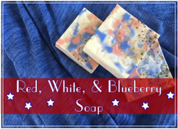 Red, White & Blueberry Soap Recipe Kit